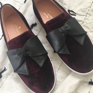 Kate spade Delise Too bow slip on sneaker Sz 8